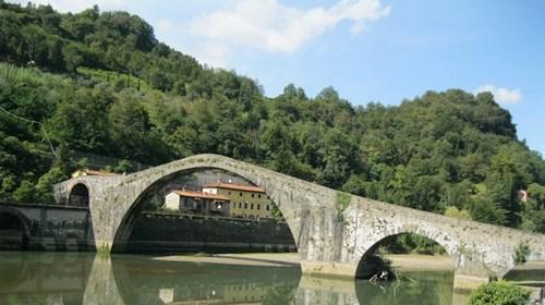 Bridge in Bagni di Lucca, Italy