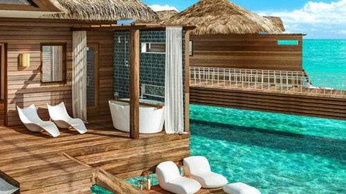 Sandals Jamaica Royal Caribbean overwater bungalow