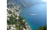 A ferry approaches Positano
