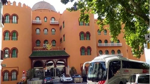 Alhambra Palace Hotel and Globus coach