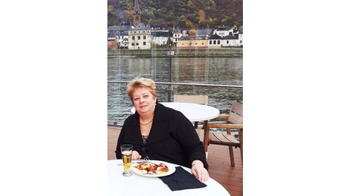 Jo Ann, on one of the great rivers of Europe