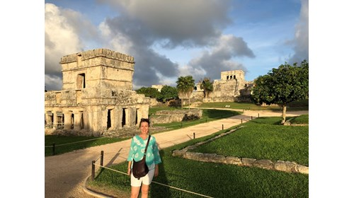 Me enjoying a late afternoon in Tulum