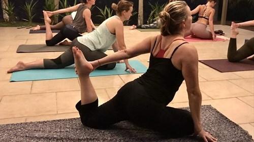 Yoga practice in Costa Rica