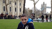 My little guy at the Tower of London