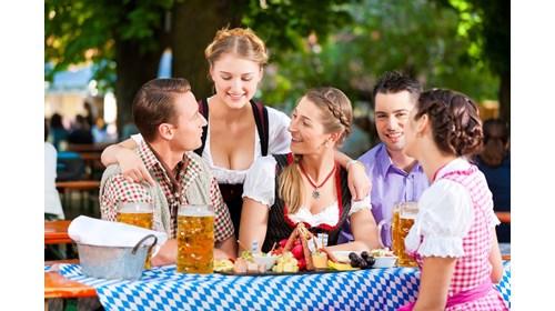 Making new friends at Oktoberfest in Munich