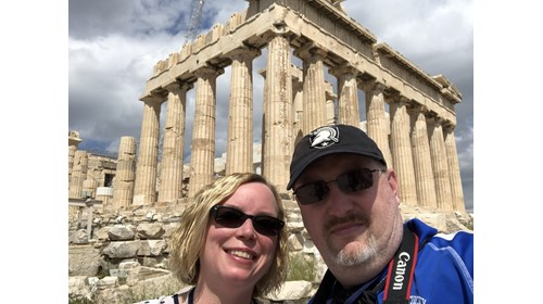 Athens - My husband, Jack and I at the Acropolis