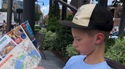 Map reading with my oldest in Boston, MA (2018)