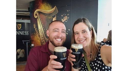 Guinness in the Sky Lounge