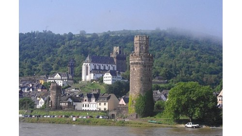 Typical river cruise view of Germany