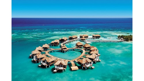 Over Water Bungalows and Villas at Royal Caribbean