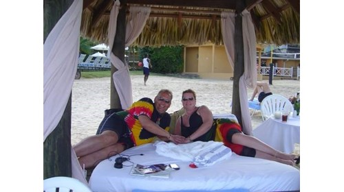 Relaxing at Sandals