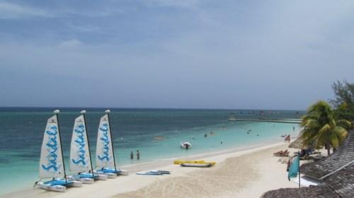 Beach at Sandals Resort Montego Bay, Jamaica