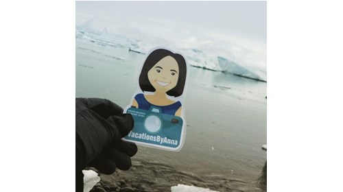 Flat Anna with some Glaciers in Iceland!