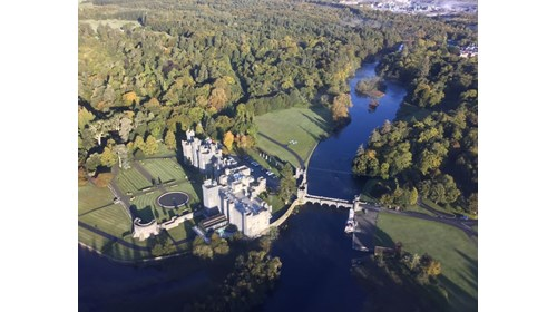 Ashford Castle from our helicopter!
