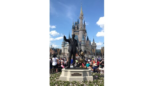 Cinderella's Castle, Walt Disney, and Mickey
