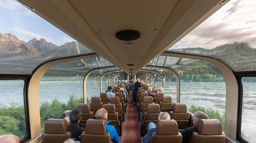 See Alaska with Royal Caribbean in a Dometop Train