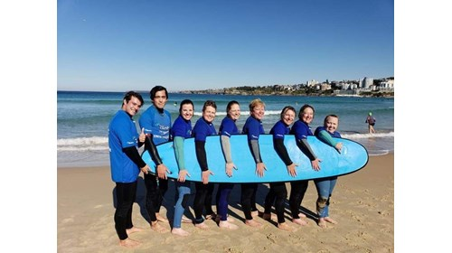 Surfing lessons on the famous Bondi Beach!