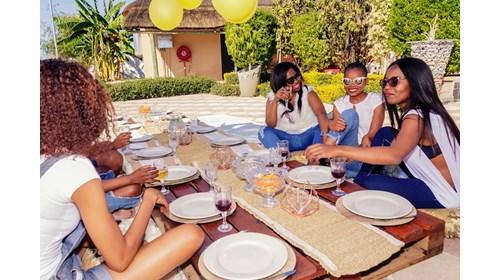 Group celebration in Botswana