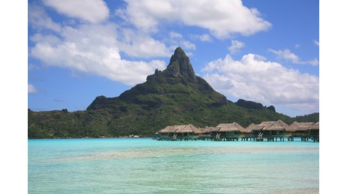 Over the Water Bungalows in French Polynesia