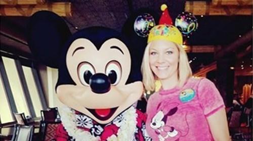 Celebrating my Birthday with Mickey