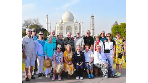 World Cruise Clients at the Taj Mahal