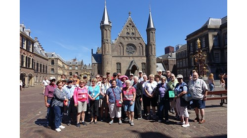 One of our hosted cruise groups in The Netherlands