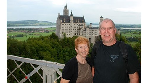 Visiting Ludwig's Castle in beautiful Germany