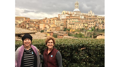 In Siena Italy with Cindy, post card perfect