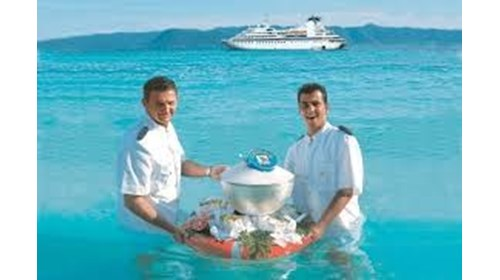 Seabourn's Caviar in the Surf