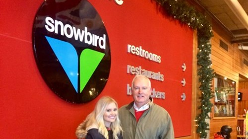 Richard Snelgrove & Daughter at Snowbird Utah