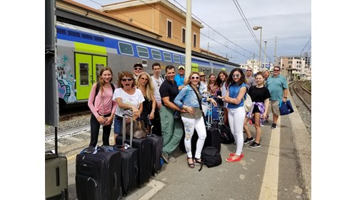 Waiting for Train to Venice from Rome Cruise Port