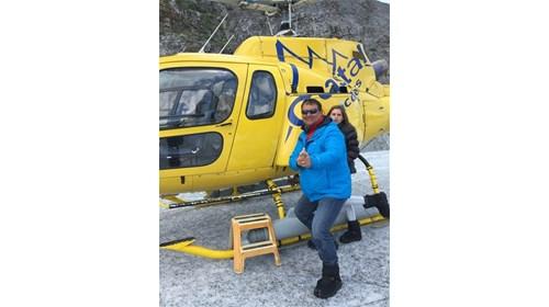 Cruise ship and Train in Alaska