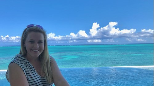 Enjoying the view in Turks and Caicos.