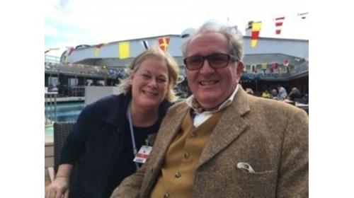 Teresa with host, Tom Mullen