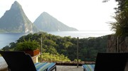 The beautiful pitons in St. Lucia