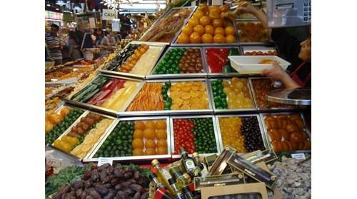 Fun fruits in the market at Las Ramblas
