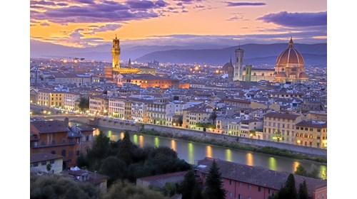 View of Florence, Italy at Dusk