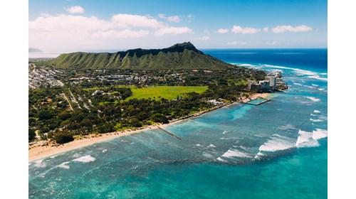 View of Diamond Head in Honolulu, Hawaii