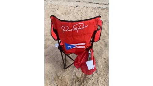 Relaxing on Ocean Park Playa beach.