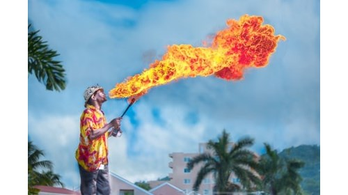 Fire Breather in Negril