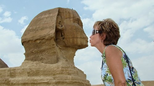 Kiss the pyramid before embarking on the Nile