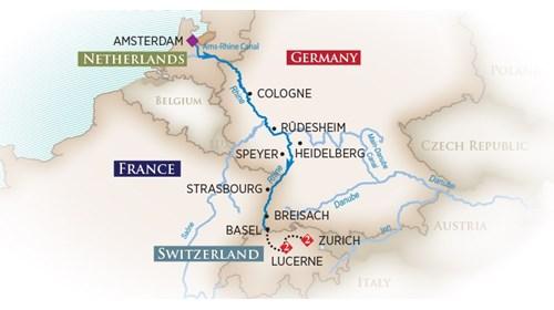 RIVER CRUISING AMSTERDAM TO SWITZERLAND