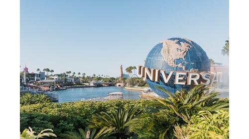 Globe In City Walk Outside Universal Studios