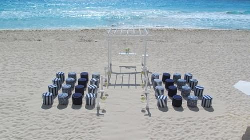 Beach Wedding Set-up, Cancun