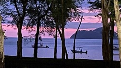 Sunset on the beach El Mongroove Resort Costa Rica
