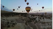 Crack of dawn balloon ride over Cappadocia.
