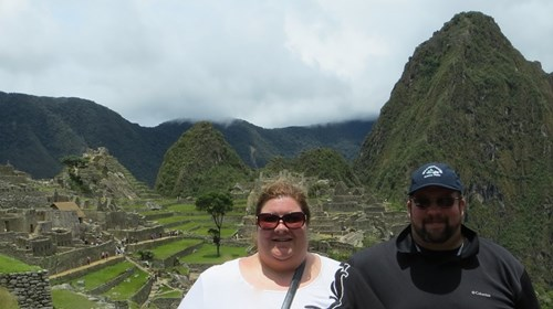 Arriving at Machu Picchu