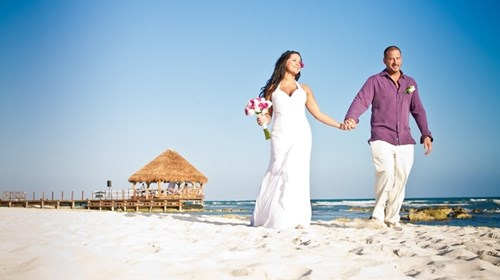 Wedding at the Riu Yucatan, Riviera Maya