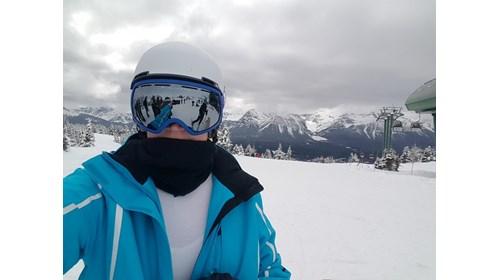 Skiing in Lake Louise, Canada