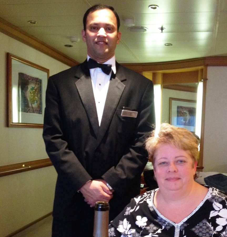On board Regent Seven Seas with my butler